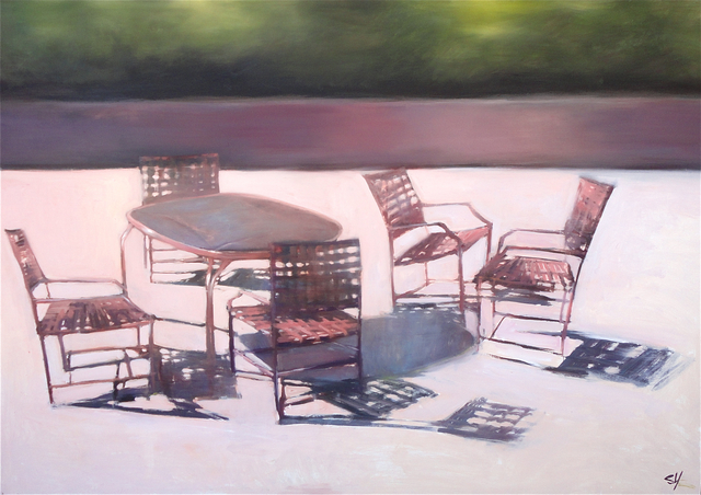 , 'Patio Chairs,' 2016, Sue Greenwood Fine Art