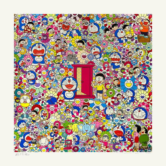 Takashi Murakami, 'Many Things Await Beyond Anywhere Door (Dokodemo Door)', 2019, Kumi Contemporary / Verso Contemporary