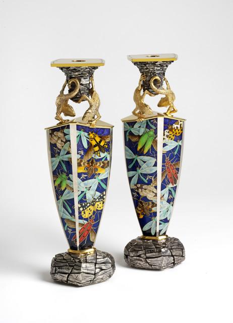 , 'Pair of Candlesticks,' London-1998, Liang Yi Museum