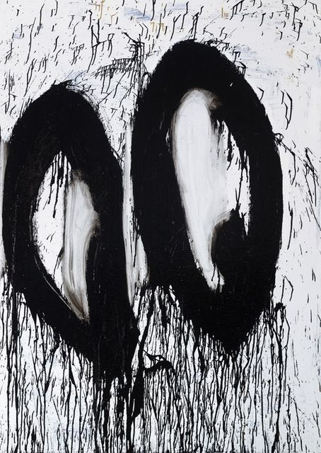 Joyce Pensato, 'Eyes Wide Open', 2016, Painting, Enamel on linen, Petzel Gallery