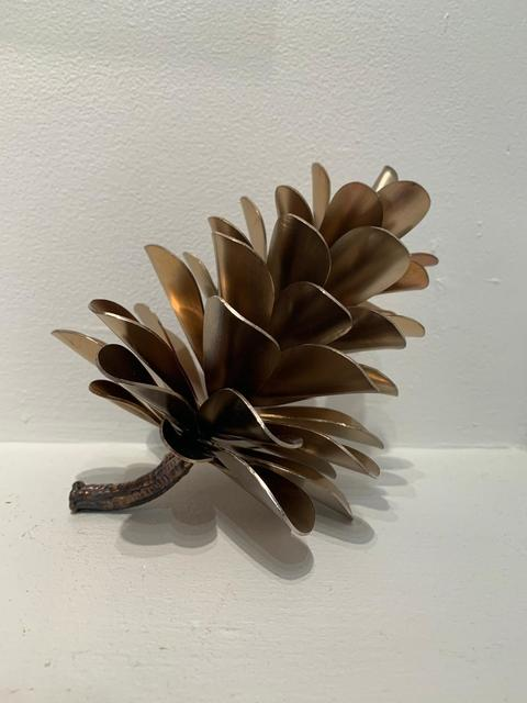 Floyd Elzinga, 'Pine Cone 20-463', 2020, Sculpture, Stainless Steel (Heat Treated) - Gold Colour, Whistler Contemporary
