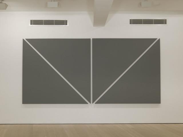 Alan Charlton, 'Two Diagonals', 2012, Annely Juda Fine Art