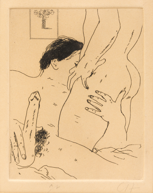 David Hockney, 'An Erotic Etching, from The Erotic Arts (Scottish Arts Council 172)', 1975, Hindman