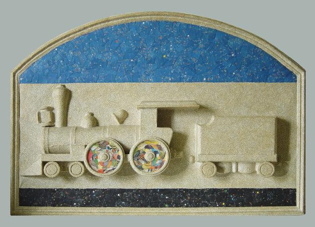 , 'Fable de la Reine des Etoils Filantes sur Rail de Chemin de Fer,' 1987, Open Art