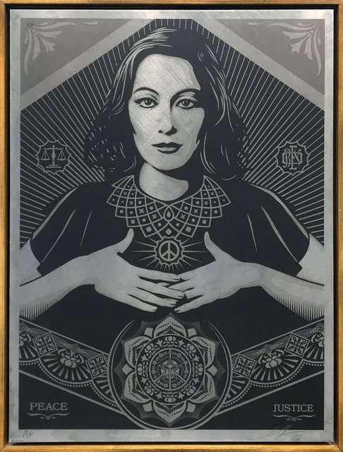 Shepard Fairey, 'Peace and Justice Woman', 2013, Galerie Openspace