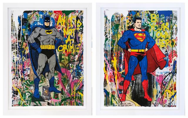 Mr. Brainwash, 'Batman and Superman', 2018, Hamilton-Selway Gallery Auction