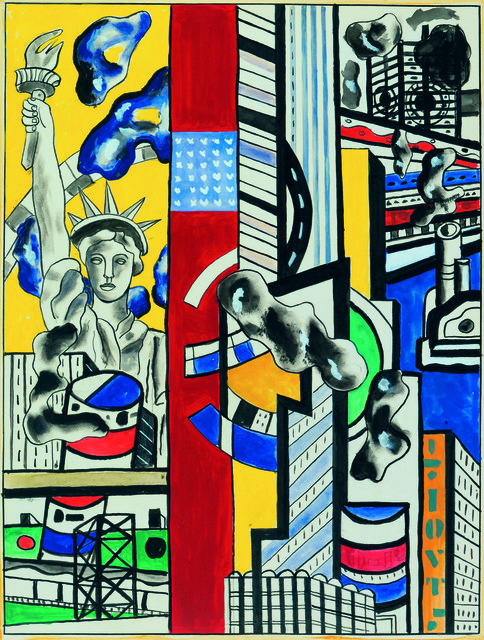 , 'Study for Cinematic Mural II,' 1938-1939, Museum Ludwig