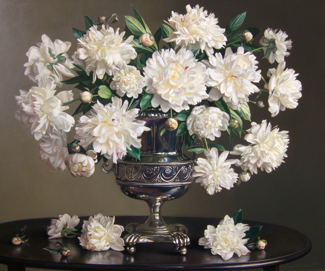 , 'Peonies in a Silver Urn,' 2013, Quidley & Company