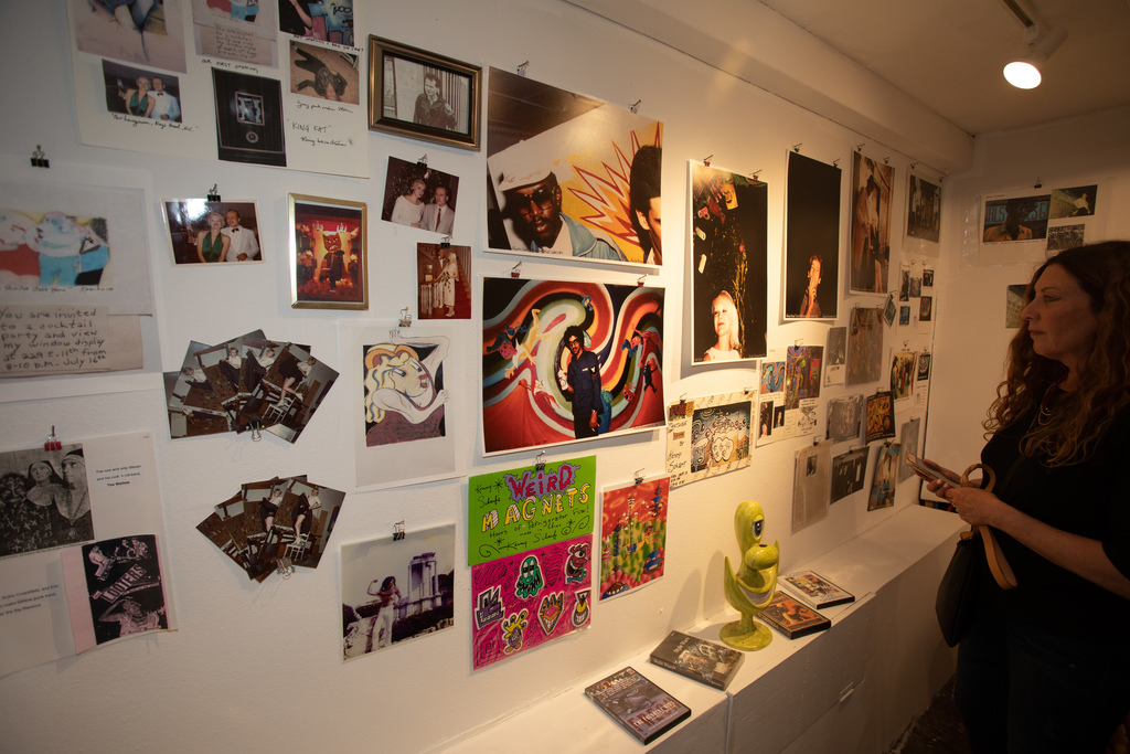 Photographs and original Fun Gallery memorabilia from Patti Astor's private collection. Photo by Kat Monk.