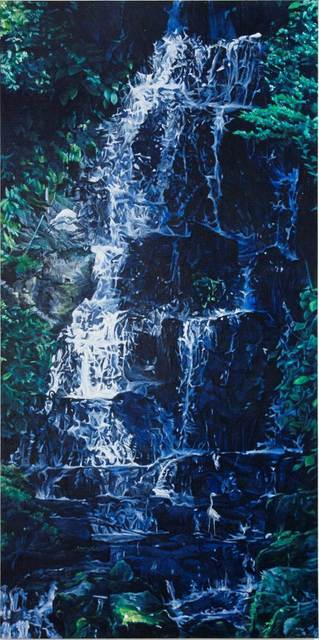 , 'Waterfall and Two White Herons,' 2014, Arario Gallery