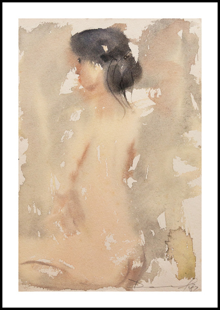 Daniel Kelly, 'Nude III', 1982, Painting, Watercolor Painting, Verne Collection, Inc.