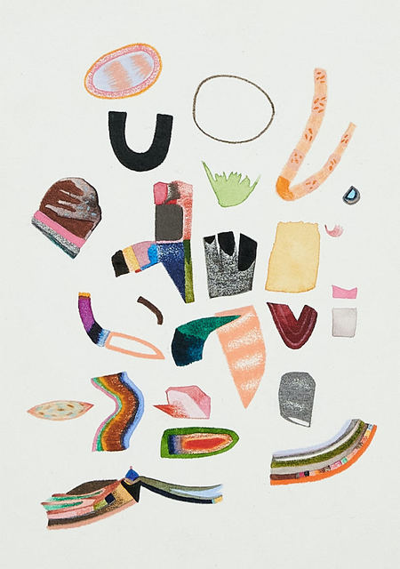 Sasha Hallock, 'Untitled, Small Collection No. 4', 2021, Drawing, Collage or other Work on Paper, Mixed media on paper, mounted on wood panel, Susan Eley Fine Art