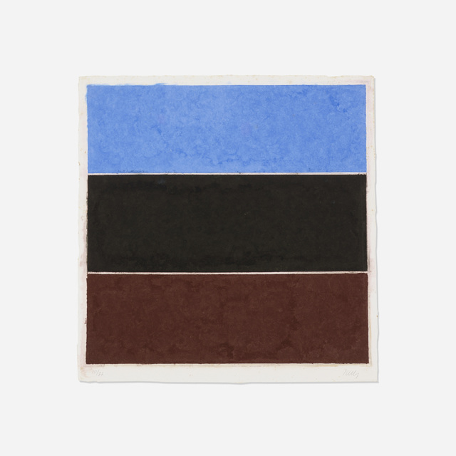 Ellsworth Kelly, 'Colored Paper Image Xvii (Blue, Black, Brown)', 1976, Wright