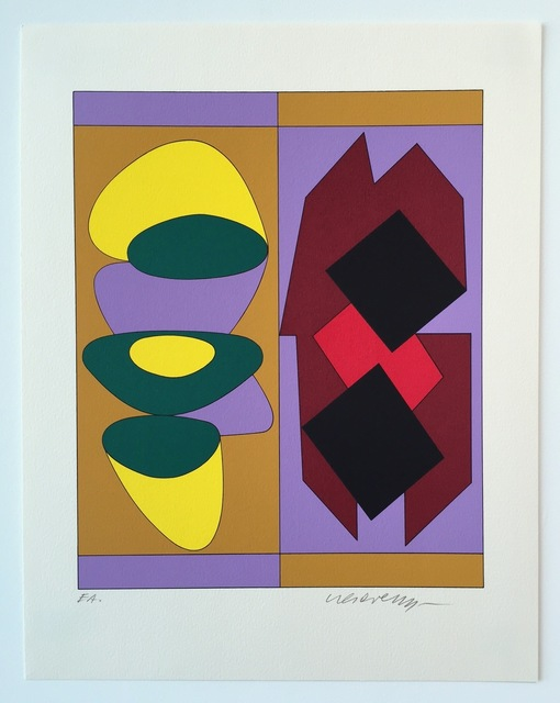 Victor Vasarely, 'Kris Bille, from Ion Album', 1989, Print, Screenprint, Gregg Shienbaum Fine Art