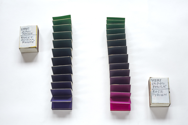 , 'Minimum distances gama (Dark Green Japanese-Extra Dark Violet and Dark Green Japanese-Tyrien Pink), from the series Collection of Colours,' 1982, Pola Magnetyczne