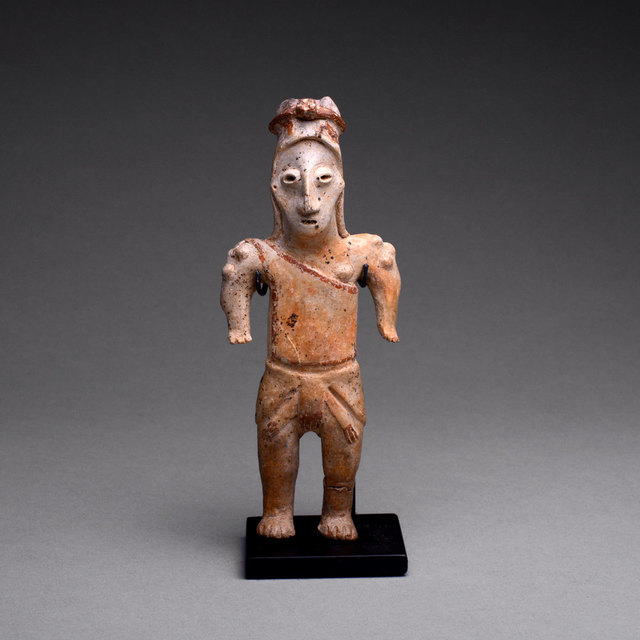 Jalisco, Mexico, 'Jalisco Sculpture of a Standing Man', 300 BC to 300 AD, Barakat Gallery