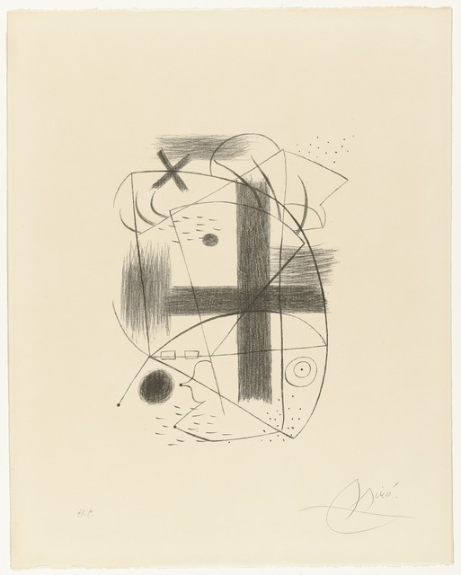 Joan Miró, 'Lithographie II', 1930; printed in 1973, Drawing, Collage or other Work on Paper, Lithograph; printed in 1973, published by Sala Gaspar, Barcelona and Galerie Gérland Cramer, Geneva Ed. H.C, Charles Nodrum Gallery