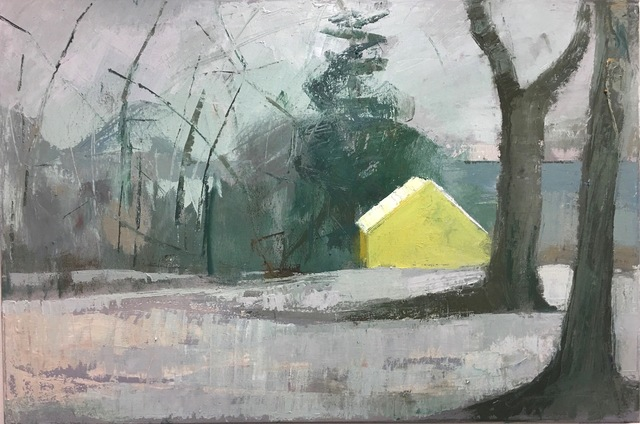 Lisa Hesselgrave, 'Yellow/Then', 2021, Painting, Oil on canvas, Jason McCoy Gallery