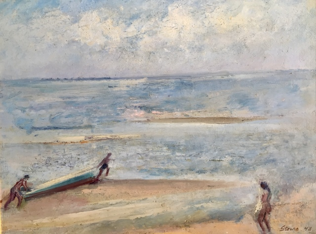 , 'Beach at Provincetown, 1948 (Launching a Boat),' 1948, Bakker Gallery