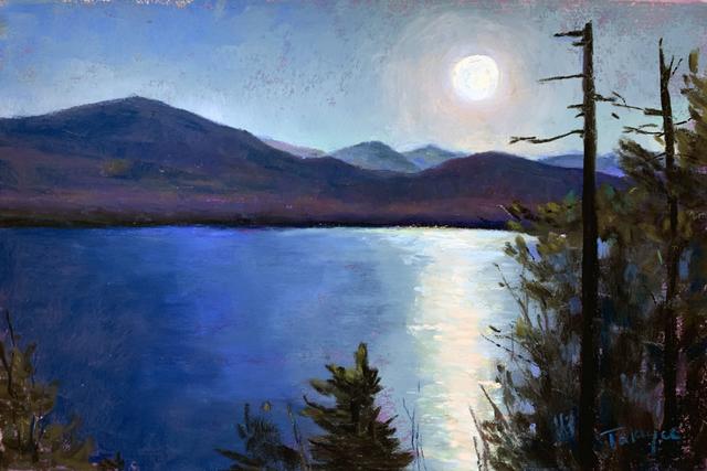 , 'Day 23: Silver Moonrise,' February 2020, Keene Arts