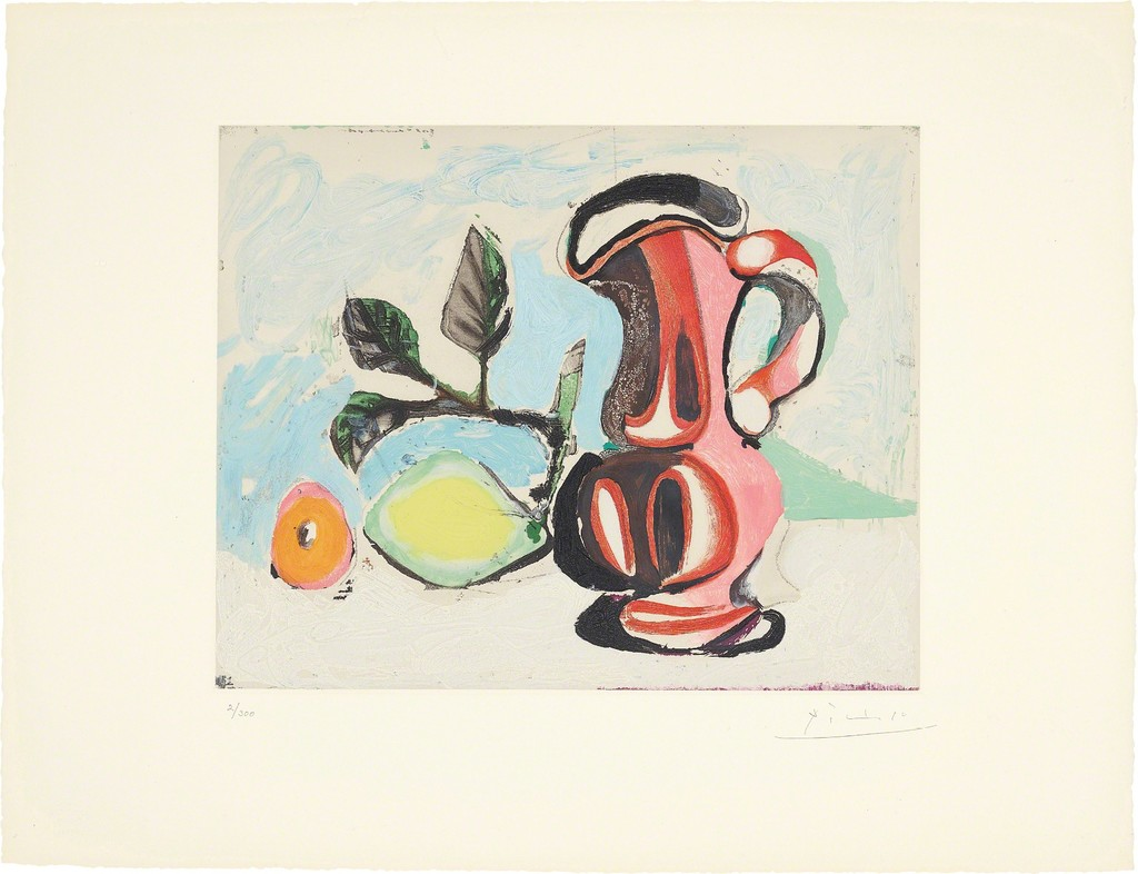 After Pablo Picasso | Nature morte au citron et pichet rouge ...