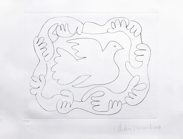 Pablo Picasso, 'ETUDES DES MAINS ET COLOMBE', 1979-1982, Reproduction, LITHOGRAPH ON ARCHES PAPER, Gallery Art