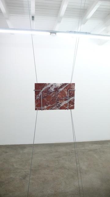 , 'Postcard (Rosso Antico Muhri),' 2018, Galerie Thomas Bernard