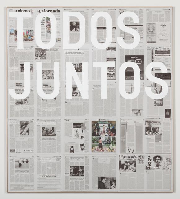 , 'Untitled 2013 (Todos juntos / domingo 1 de septiembre de 2013),' 2013, kurimanzutto