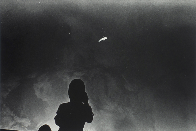 Kikuji Kawada, 'Floating Fish and a Photographer, Los Caprichos, 1975', late 1970's, Photography, Vintage silver gelatin print, printed late 70's, Michael Hoppen Gallery