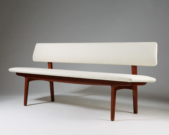 , 'Bench with backrest,' 1957, Modernity