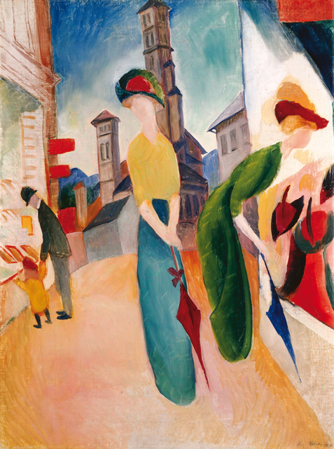 , 'TWO WOMEN IN FRONT OF A HAT SHOP,' 1913, Leopold Museum