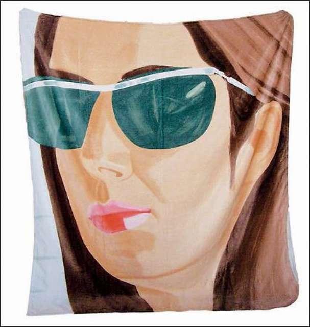 "Alex Katz, '""Ada in Sunglasses"", 2007,  Beach Towel, limited edition, 70 × 60 in. ', 2007, VINCE fine arts/ephemera"
