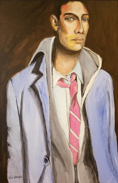 Vian Borchert, 'Man with a Pink Tie', ca. 2007, Painting, Oil on canvas, bG Gallery