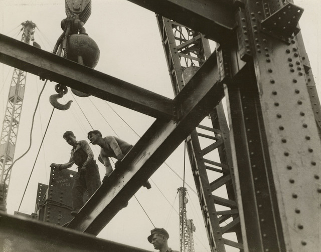 , 'The Steel Workers are Always on Top, Constructors Lay a Beam, Empire State,' ca. 1930, Edwynn Houk Gallery