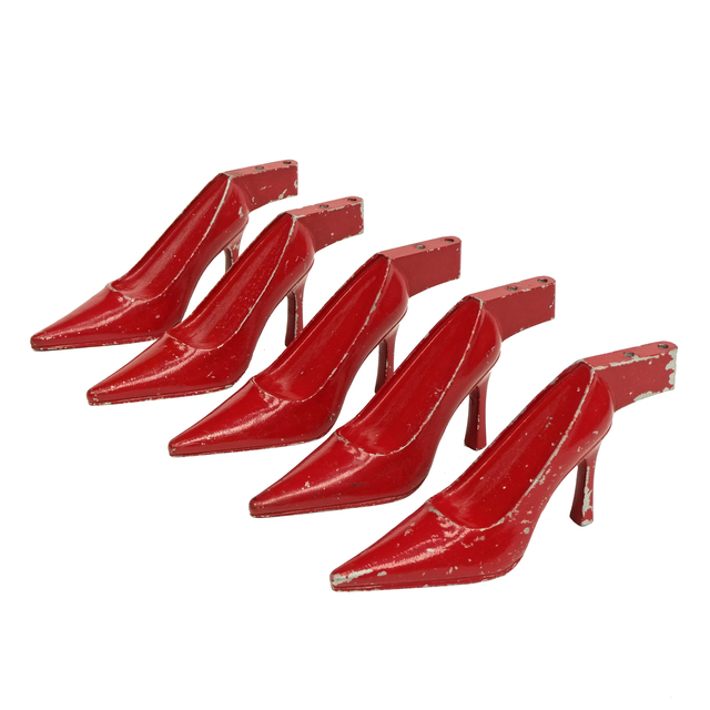 Unknown Artist, '1950s Red Metal Stiletto Shoe Sculptures', ca. 1950, Fears and Kahn