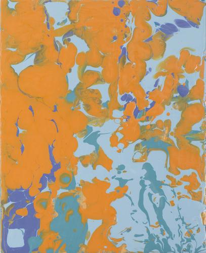 , 'orangeturquiose pour,' 2013, Heather Gaudio Fine Art