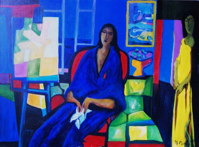 , 'Modele Bleu (The Blue Model),' 2005, Baterbys Art Gallery