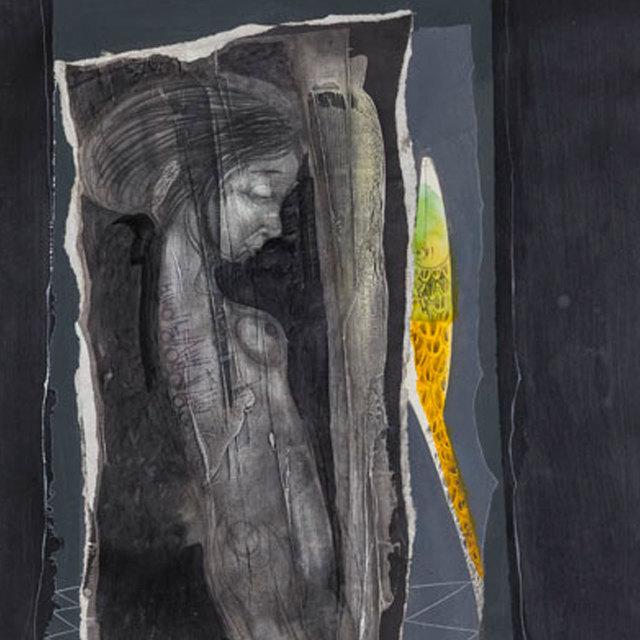 , 'Muchacha conversando con un lagarto amarillo / Girl Talking with a Yellow Lizard,' 2015, ArteMorfosis - Galería de Arte Cubano