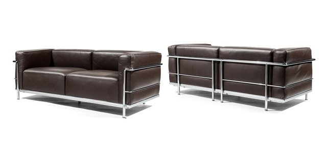 Le Corbusier, 'Pair of LC3 Loveseats', Heritage Auctions