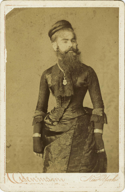 , 'Bearded Lady, Carte de Visite,' ca. 1800, The Walther Collection