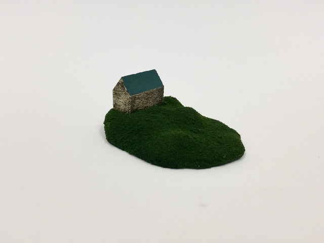 """, 'Housing Market Series 7: """"I have a perfect house for you. Its a farm house with a big lot. You can grow organic vegetables or keep your goats and sheep as you wish!"""" ,' 2018, Adah Rose Gallery"""