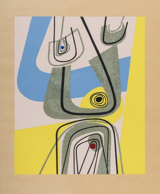 Enrico Prampolini, 'Abstract composition', Print, Screenprint in colours, Forum Auctions