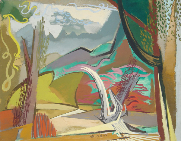 , 'Landscape Study III (for oil painting),' 1950, Childs Gallery