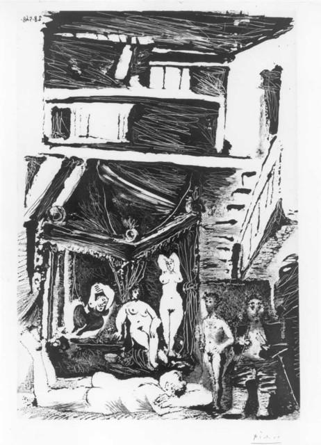 , 'Viel homme songeant a sa vie: jeunesse galante, age mur de peintre celebre, oeuvre creee dans un taudis et tronant maintenant sous un dais, 28.5.68,' 1968, Alan Cristea Gallery