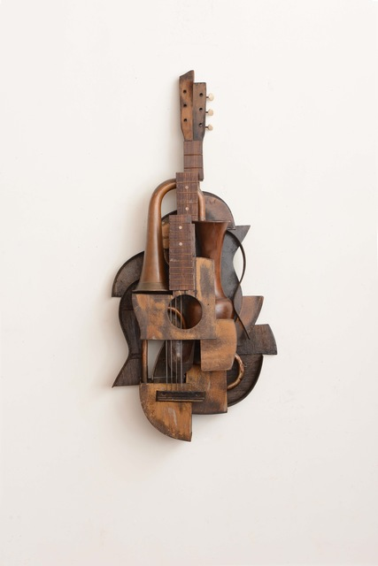 , 'Guitar, Trumpet and Vases,' 2013, William Turner Gallery