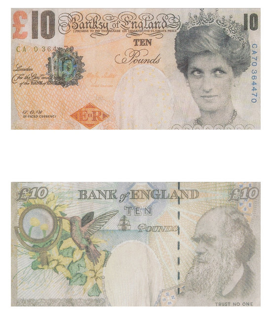 Banksy, 'Di-Faced Tenner, 10 GBP Note (two works)', 2005, Heritage Auctions