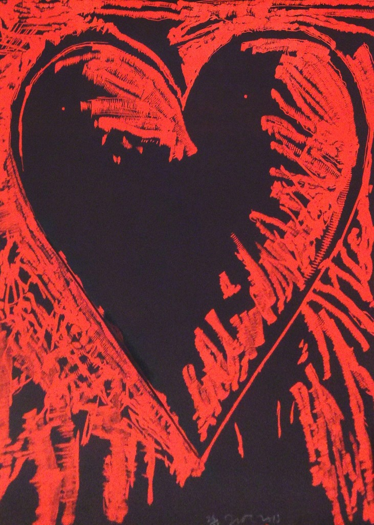 Jim Dine, 'The Black and Red Heart,' 2013, Jonathan Novak Contemporary Art