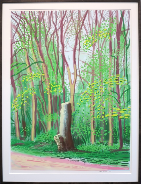 David Hockney, 'The Arrival of Spring in Woldgate, East Yorkshire in 2011(twenty eleven) - 19 April', 2011, IKON Ltd. Contemporary Art