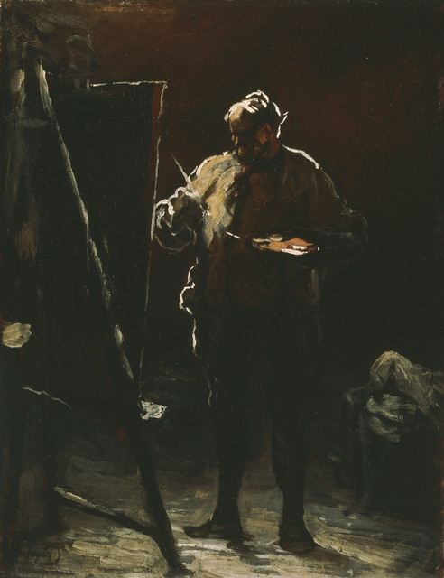 Honoré Daumier, 'The Painter at His Easel', ca. 1870, Phillips Collection