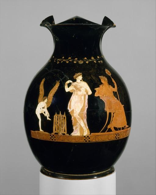 Unknown Greek, 'Terracotta oinochoe (jug)', mid-4th century B.C., The Metropolitan Museum of Art